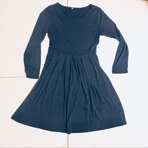 ZESICA long sleeve Navy swing dress